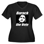 Barack the vote Women's Plus Size V-Neck Dark T-Sh
