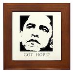 Obama 2008: Got hope? Framed Tile