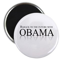 "Barack to the future with Obama 2.25"" Magnet (100"