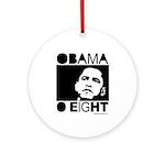 Obama 2008: Obama O eight Ornament (Round)