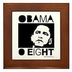 Obama 2008: Obama O eight Framed Tile
