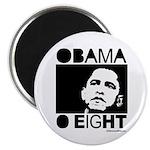 Obama 2008: Obama O eight Magnet