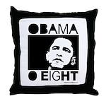 Obama 2008: Obama O eight Throw Pillow