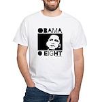 Obama 2008: Obama O eight White T-Shirt