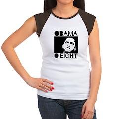 Obama 2008: Obama O eight Women's Cap Sleeve T-Shi