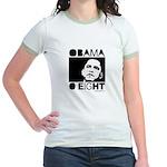 Obama 2008: Obama O eight Jr. Ringer T-Shirt