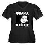 Obama 2008: Obama O eight Women's Plus Size V-Neck