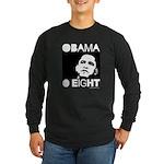 Obama 2008: Obama O eight Long Sleeve Dark T-Shirt
