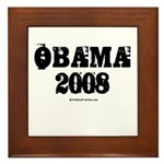 Vintage Obama 2008 Framed Tile