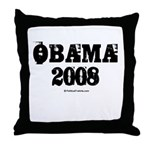 Vintage Obama 2008 Throw Pillow