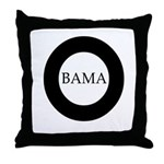 Obama 2008: O-bama Throw Pillow