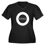 Obama 2008: O-bama Women's Plus Size V-Neck Dark T