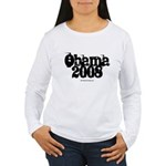 Vintage Obama 2008 Women's Long Sleeve T-Shirt