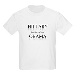 Hillary / Obama: The dream team Kids Light T-Shirt