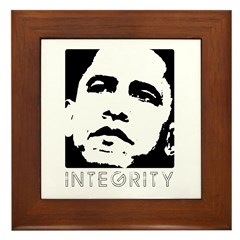 Obama 2008: Integrity Framed Tile