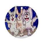 Full Moon Rabbits Ornament (Round)