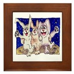 Full Moon Rabbits Framed Tile