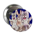 "Full Moon Rabbits 2.25"" Button (100 pack)"