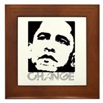 Obama 2008: Change Framed Tile