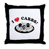 I Love Carbs! Throw Pillow