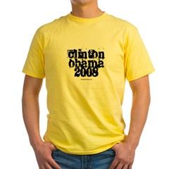 Clinton Obama 2008 Yellow T-Shirt