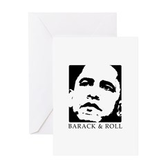 Barack & Roll Greeting Card