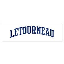 LETOURNEAU design (blue) Bumper Bumper Sticker