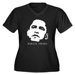 Barack Obama Women's Plus Size V-Neck Dark T-Shirt