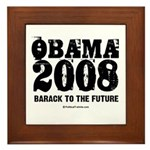 Obama 2008: Barack to the future Framed Tile