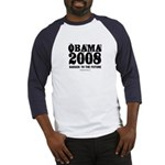 Obama 2008: Barack to the future Baseball Jersey