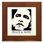 Obama 2008: Peace and Hope Framed Tile