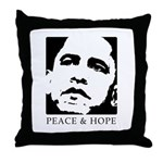 Obama 2008: Peace and Hope Throw Pillow