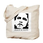 Obama 2008: Peace and Hope Tote Bag