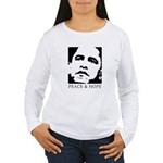 Obama 2008: Peace and Hope Women's Long Sleeve T-S