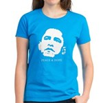 Obama 2008: Peace and Hope Women's Dark T-Shirt