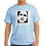 Obama 2008: Peace and Hope Light T-Shirt