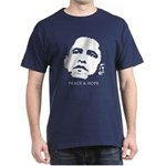 Obama 2008: Peace and Hope Dark T-Shirt