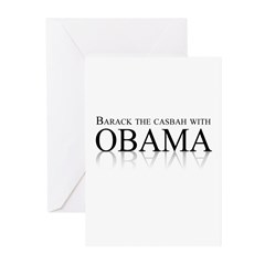 Barack the casbah with Obama Greeting Cards (Pk of