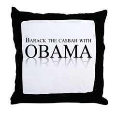 Barack the casbah with Obama Throw Pillow