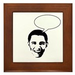 Obama (write in message) Framed Tile