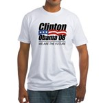Clinton/Obama '08: We are the future Fitted T-Shir