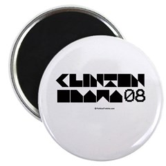 "Clinton / Obama 2008 2.25"" Magnet (10 pack)"