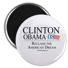 "Clinton/Obama: Reclaim the American Dream 2.25"" Ma"