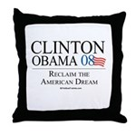 Clinton/Obama: Reclaim the American Dream Throw Pi