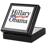 Clinton / Obama 2008 Keepsake Box