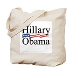 Clinton / Obama 2008 Tote Bag