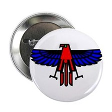 "Indian Eagle Totem 2.25"" Button (100 pack)"