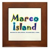 Tropical Marco Island -  Framed Tile