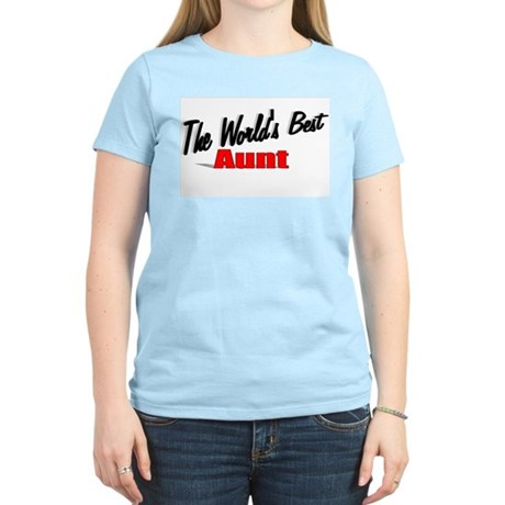 """The World's Best Aunt"" Women's Light T-Shirt"