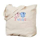Pastel Twin Bodysuit for Twins Tote Bag